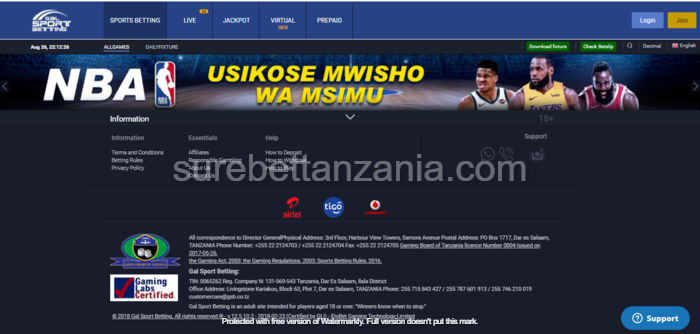 Gal sport betting tanzania foobar csgo betting